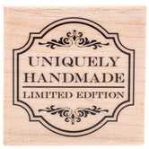 Uniquely Handmade Rubber Stamp